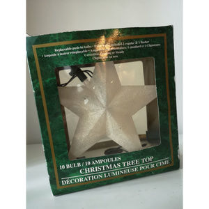 Other - Frosted Light-up Tree Star Topper white